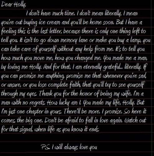 Ps I Love You Last Letter