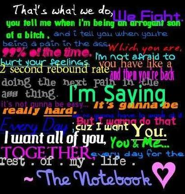 the notebook movie quote