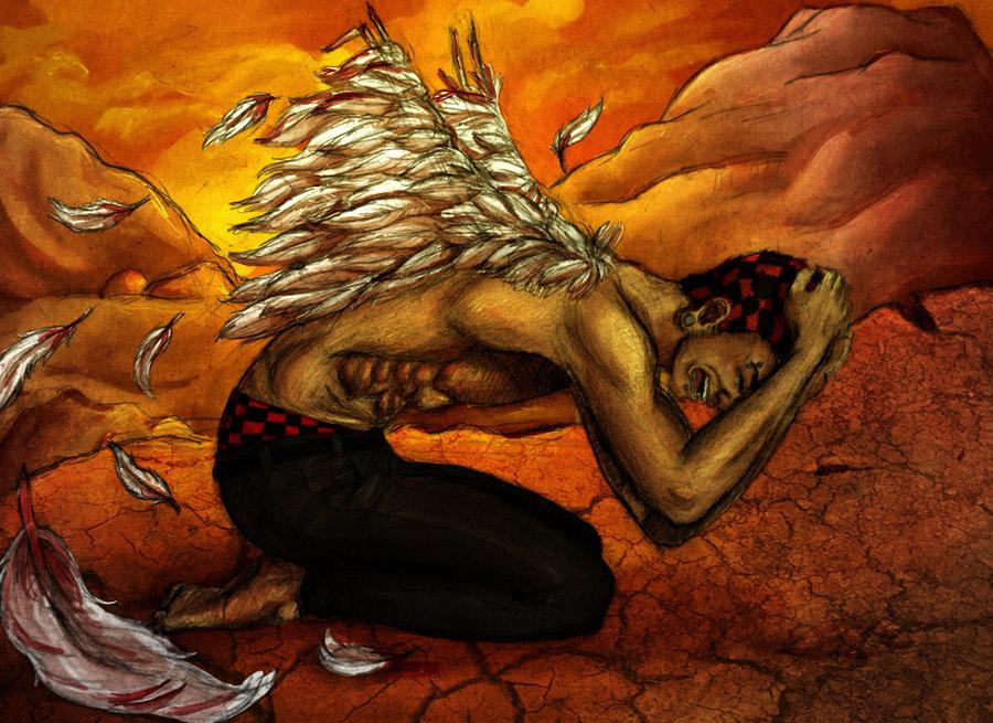 broken angel lost wings