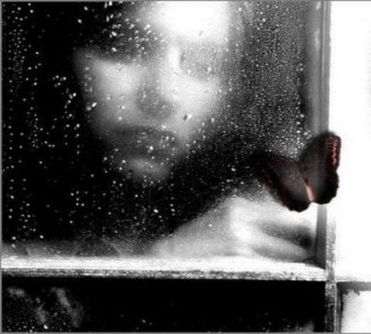 Girl alone in Rain