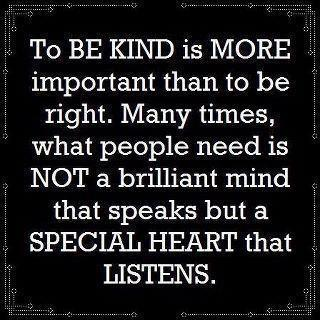 To Be Kind Is More Important