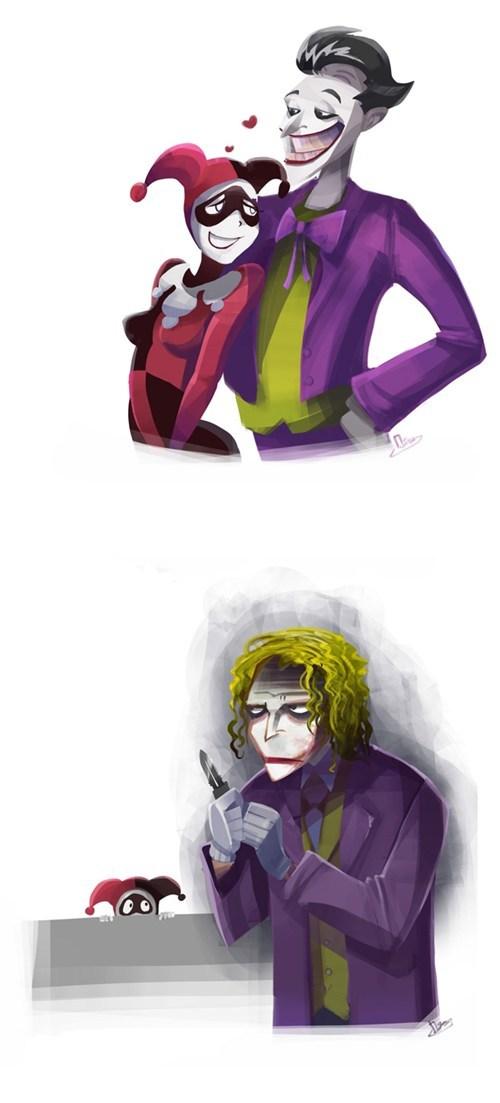 The New And Old Joker Love,New joker, Old Joker Love,lover,love,batman joker,batman,harley quinn,harley ,quinn,harley quinn love,harlequin,girlfriend,Molly Mayne,