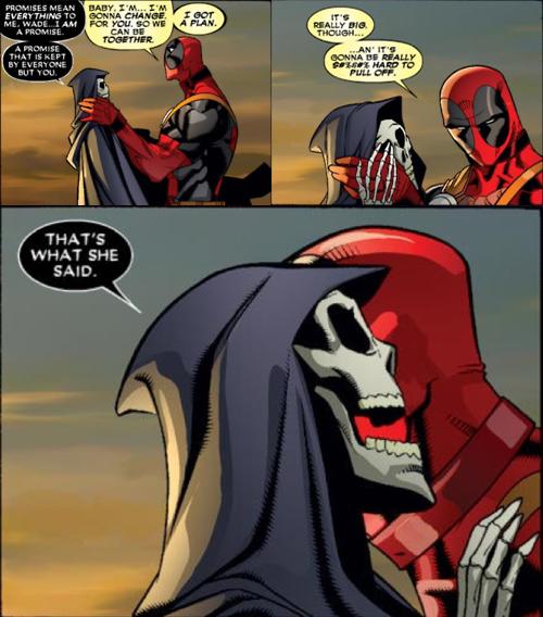 DeadPool In Love With Death,DeadPool In Love,Death,DeadPool, In Love With Death,marvel comic,comics,love,in love
