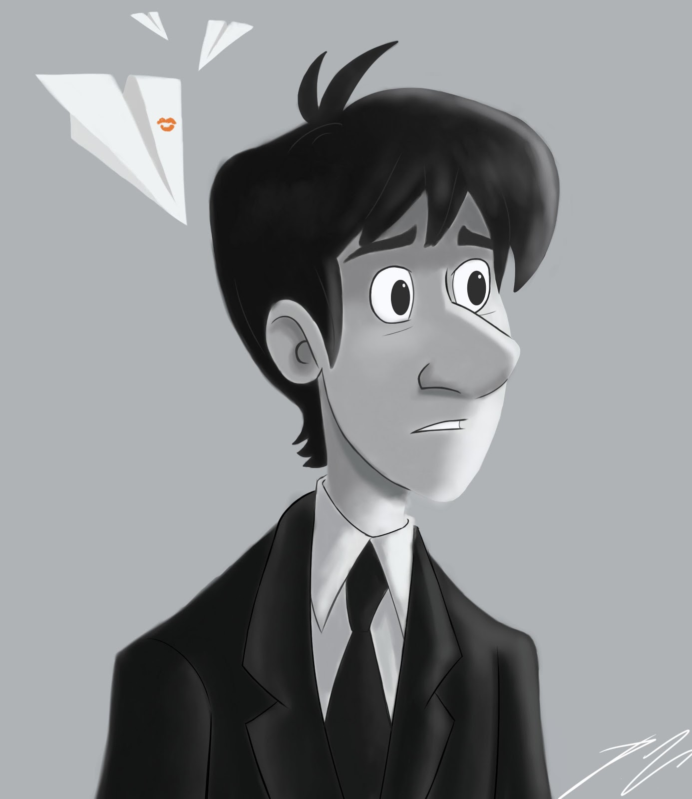 A Kiss On Paper Plane, cartoon, destiny, disney, Disney Short Film, Disney – Paperman Short Film, DisneyPaperman, flim, hope, love, lv, man, men, Paperman, paperman girl drawing, Paperman Short Film, Short Film, woman, women