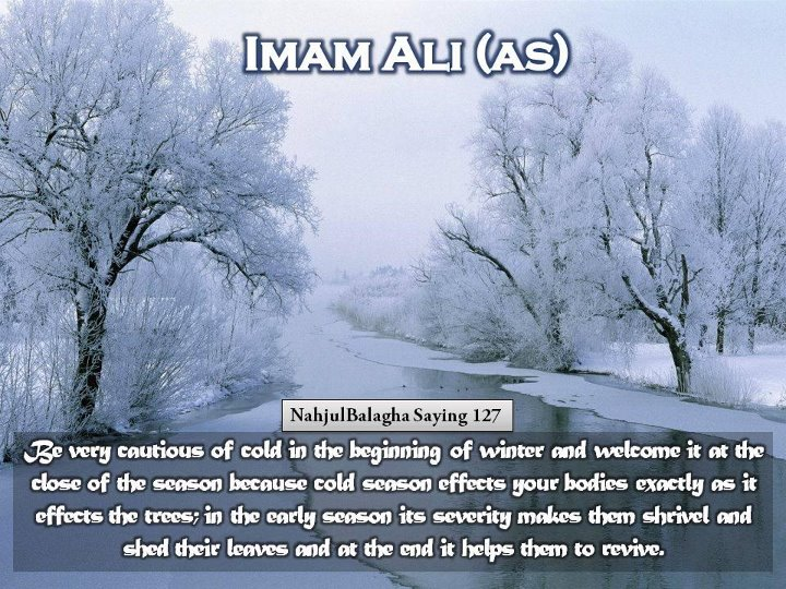 Saying Of Hazrat Ali About Winter,Hazrat Ali, Nahjul Balagha, Peak of Eloquence,winter,cold,saying of hazrat ali
