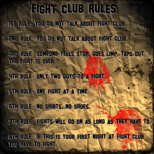 COMiCS, Fight Club,fight club rules,Brat pit,