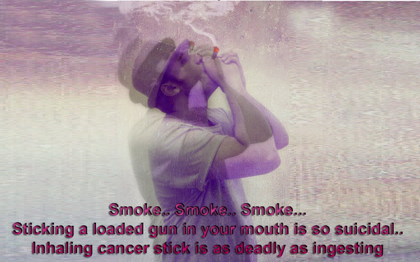 Inhalling Cancer Stick Is As Deadly As Ingesting,smoke, loaded gun, loaded gun in your mouth,suicidal,smoke,drug kills,durgs,grave,soul,watching,smoking, dreams, Dying Marlboro, Guy Smoking,lover, marlboro, miss you, my cigarette, my dream, my dreams, no smoking, smoke, Smoking, smoking and missing you, smoking and thinking, smoking and thinking about you, Smoking cigarette,