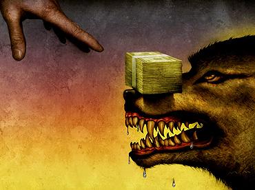 Bad Money,Bad, Money,evil,wrong money,wrong way,wolf,dog,bad wolf,the wolf i feed,karma