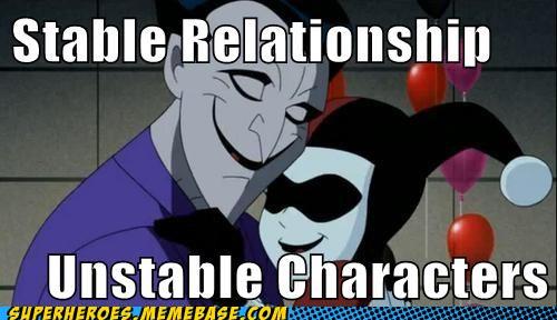 Stable Relationship - Unstable Characters,Stable Relationship,Unstable Characters,Stable, Relationship ,Unstable, Characters,joker,lovers,beloved,harly,batman, batman begins, joker, joker drawing, joker sketch, jokers of batman,