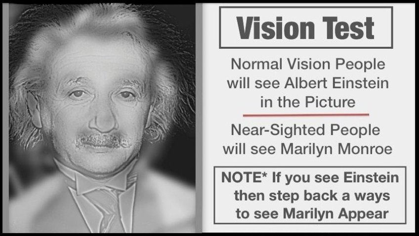 Vision Test,Vision,Test,Marilyn Monroe,Marilyn,Monroe,Albert Einstein,Albert,Einstien,Normal Vision,Near Sighted