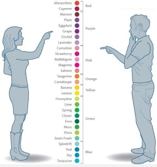 How-Men-And-Women-See-Colors,colors,How men and women see things,men vs women,women vs men,how we see colors,How Men And Women See Colors