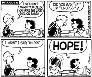 So There Is A Hope,comic,girls,love,boy,doodle,funny,meme,Peanuts,love you