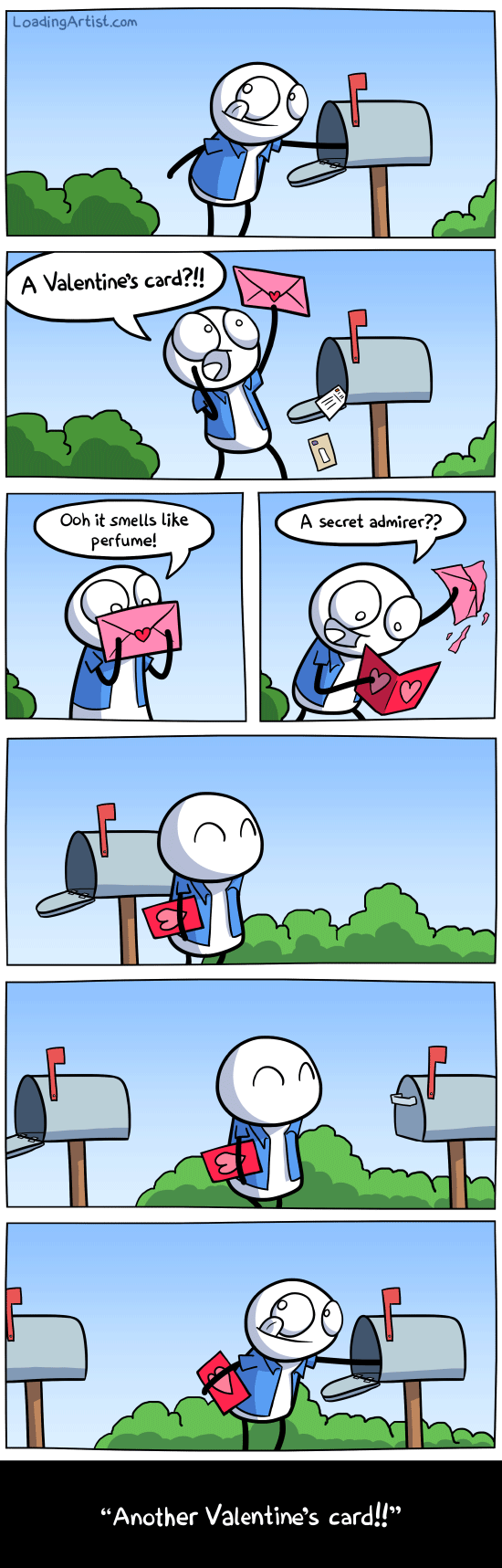 Another Valentines Card,Forever Alone,Alone,Sad,Another Valentine Card,A Secert Admirer,Funny,Valentine Comic,