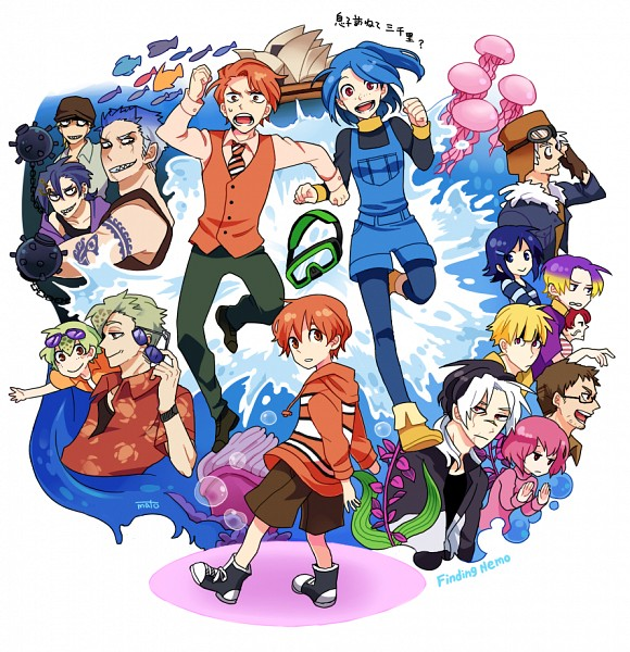 If-Finding-Nemo-Were-An-Anime-With-Humans,If Finding Nemo Were An Anime With Humans,Finding Nemo ,Anime With Humans,nemo,cartoon movie,art,dora,finding dora,Anime