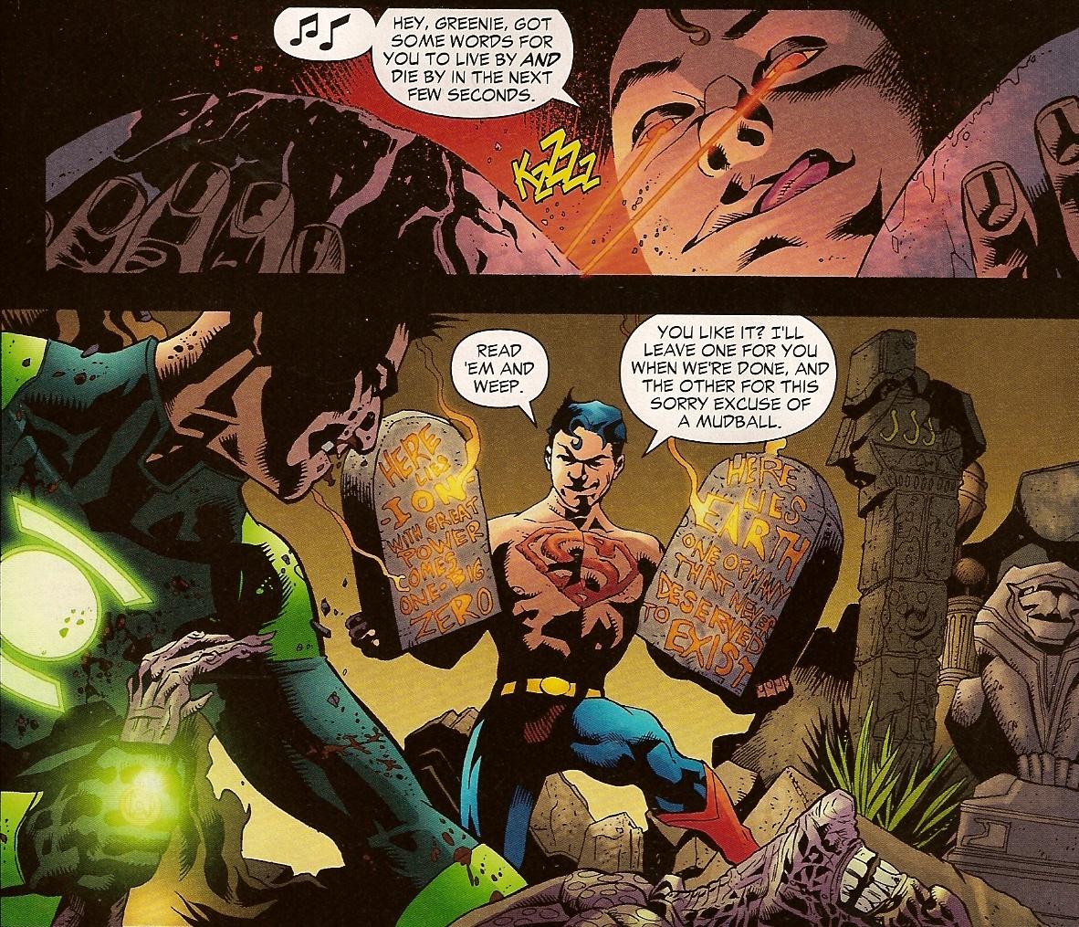 Guardian of the Universe, Guardian,Universe,Comic,toon,superboy,superman,kryptonite,Superboy Prime,Green ,Green Lantern,Red Sun, selfdestruction,badass