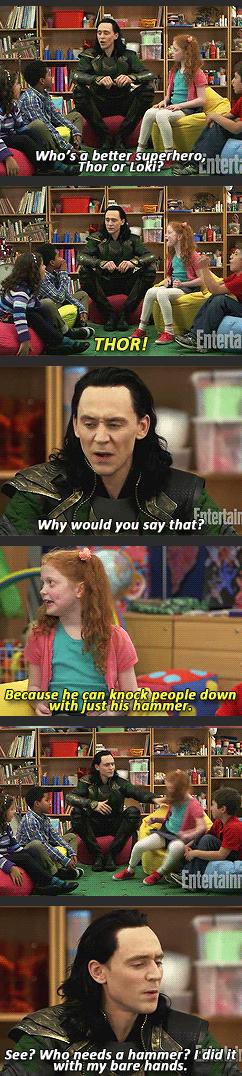 Loki With Children,Thor,Thor Movie,Loki and Children,Funny,Thor 2,Thor,Marvel