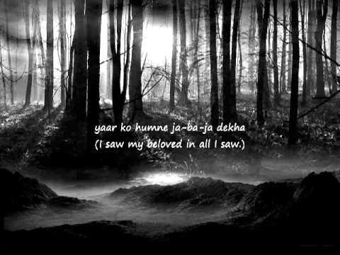 Yaar Ko Hamne Ja Ba Ja Dekha ,abida parveen,abida ,parveen,sufi poetry,sufisim,sufi love