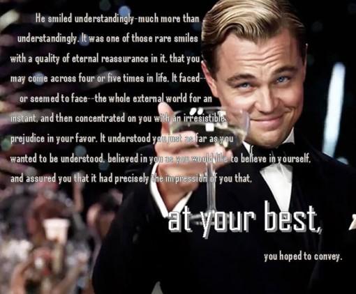 The Great Gatsby ,Great Gatsby ,Gatsby ,He smiled Understandingly,leonardo dicaprio,leonardo dicaprio smile,leonardo smile,dicaprio smile