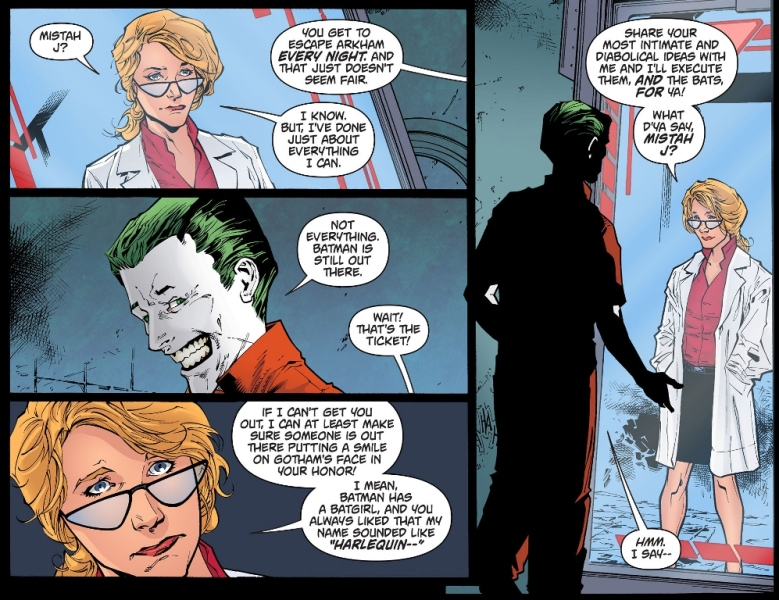 harlene quinzel becomes harley quinn arkham knight,harlene quinzel becomes harley quinn ,arkham knight,harlene quinzel ,becomes harley quinn, arkham, knight,harlene quinzel , harley quinn,joker,batman arkham knight,arkham knight comic,joker comic,batman comic,dc comic,harley quinn comic