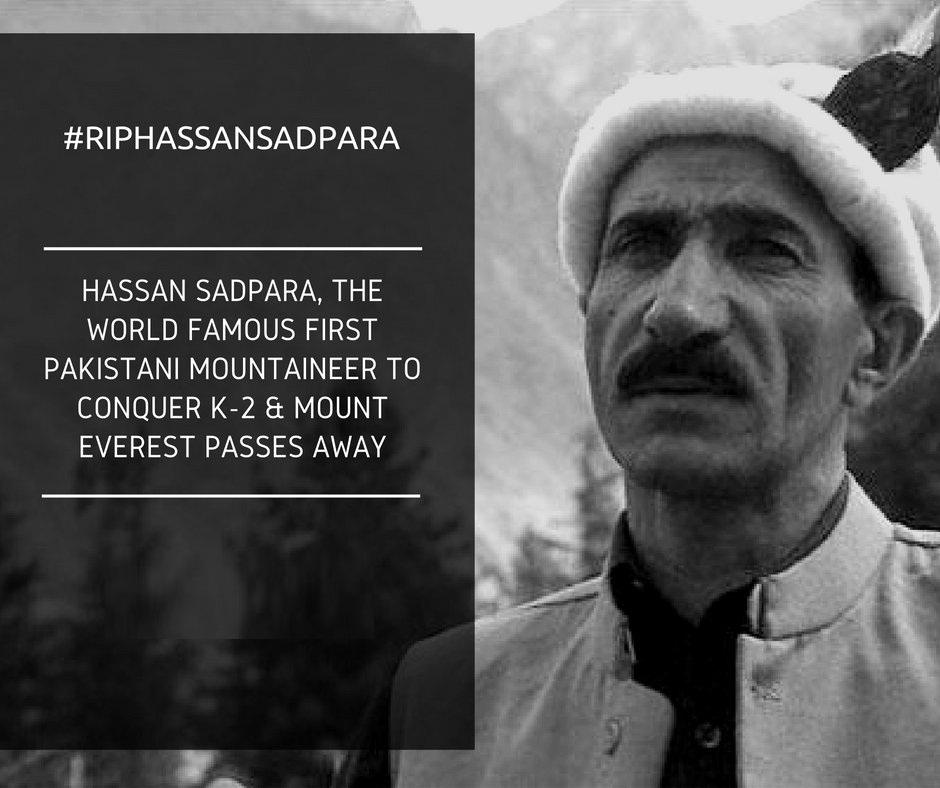 Hassan Sadpara,Pakistani,Mount Everest, K-2,Sadpara,RIP